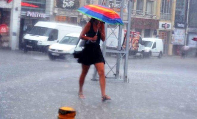 İstanbul'a yağmur ve dolu uyarısı