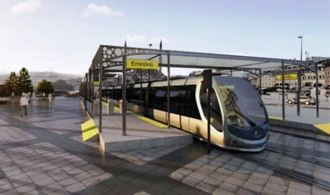 Eminönü Alibeyköy Tramvay hattı inşatı devam ediyor