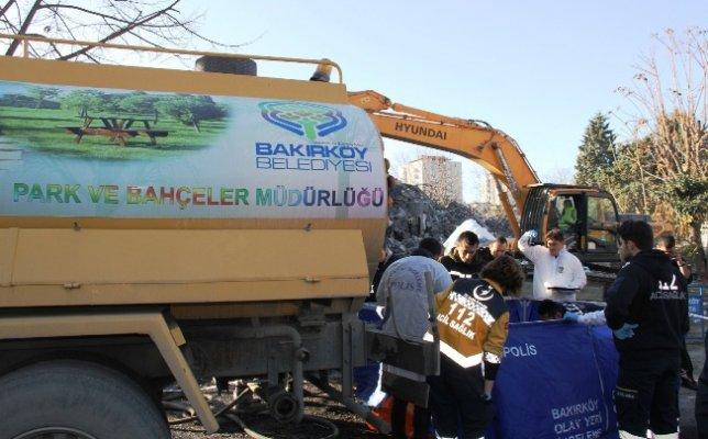 Bakırköy'deki yıkımda feci kaza