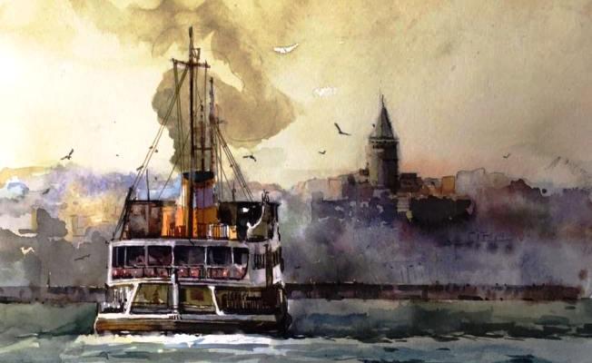 "Mücella Balyemez ""Istanbul'um"" Suluboya sergisi"