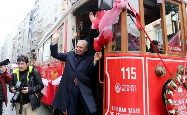 Beyoğlu nostaljik tramvayınna kavuştu