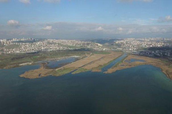 Kanal İstanbul projesini havadan görüntüledi