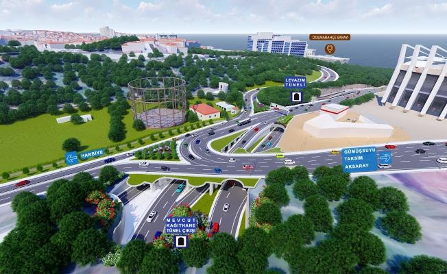 Dolmabahçe-Levazım Tüneli ile 70 dakikalık yol 5 dakikaya inecek