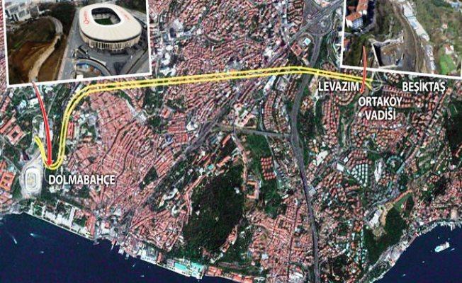 Dolmabahçe-Levazım tünelinin giriş ve çıkışı havadan görüntülendi