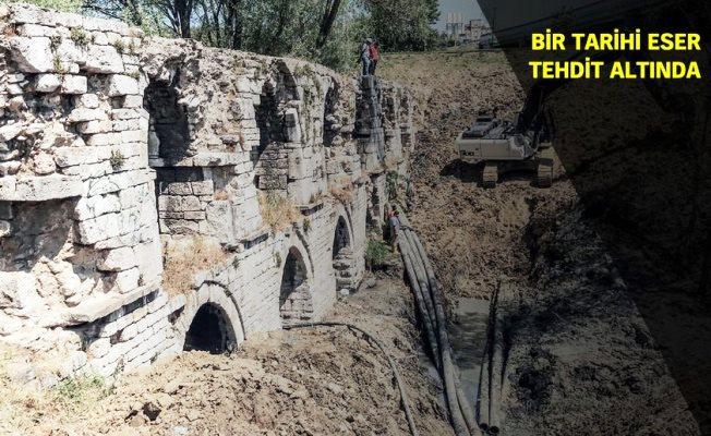 228 yıllık Ali Paşa Kemeri toprak altına gömüldü