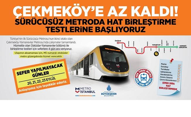 Çekmeköy sürücüsüz metro hattı açılıyor