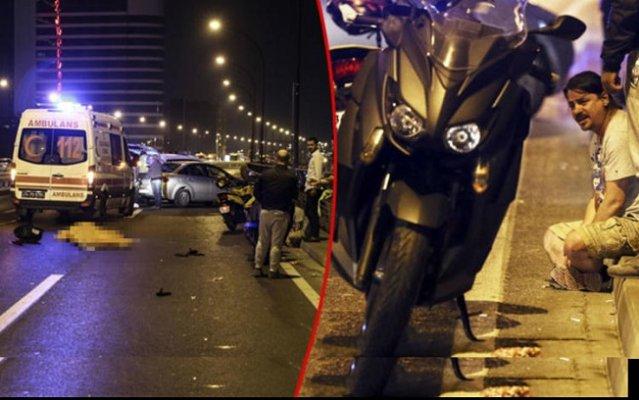 Şişli'de feci motor kazası
