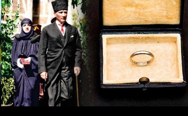 Atatürk'ün Latife Hanım'a taktığı nikâh yüzüğü ortaya çıktı