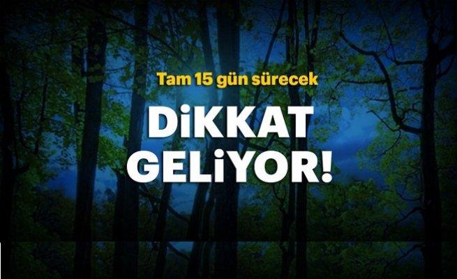 İstanbul'a pastırmasıcakları geliyor...