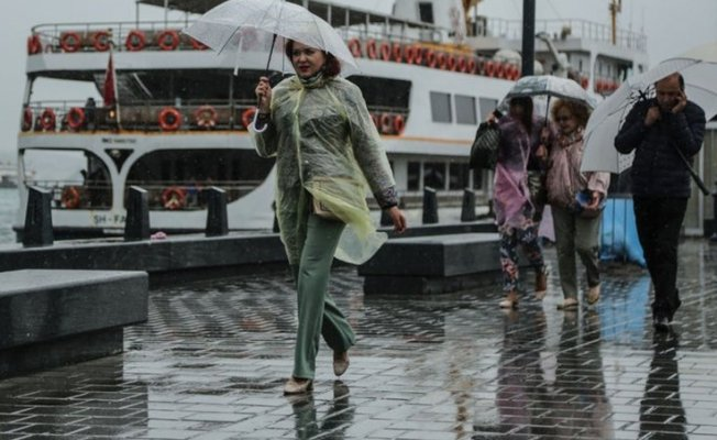İstanbul'a sağanak yağmur geliyor