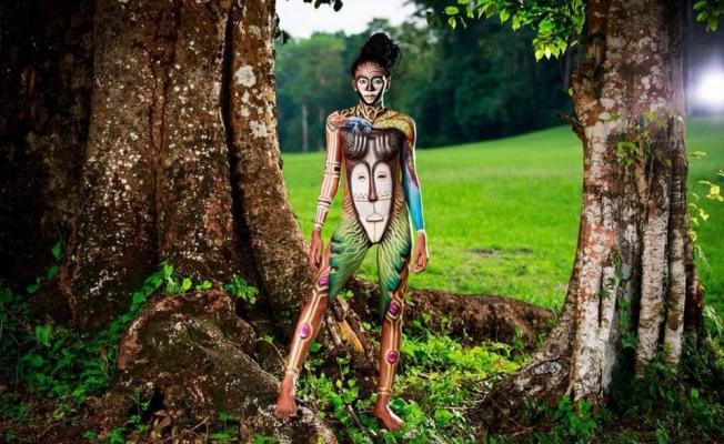 Ekvator Gine vücüt boyama festivali