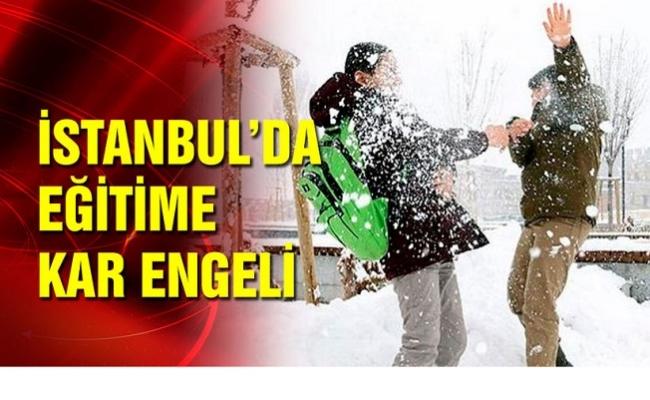 İstanbul'da Pazartesi okullar tatil