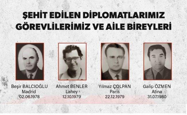 Şehit edilen diplomatlarımız