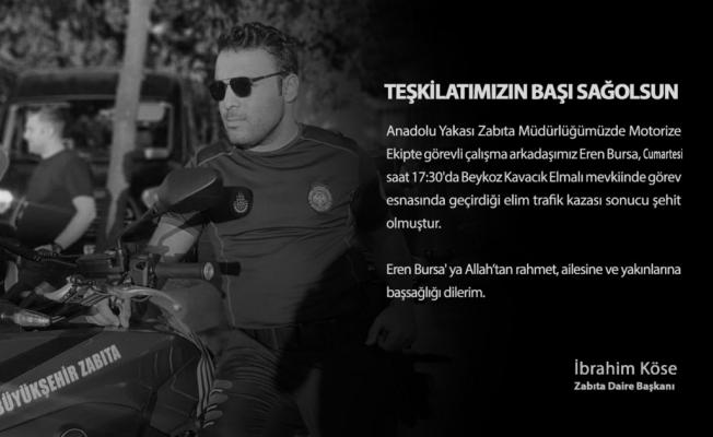 Beykoz'da feci kaza: Motorize zabıta memuru hayatını kaybetti