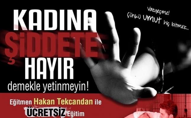 Kadına şiddete hayır!