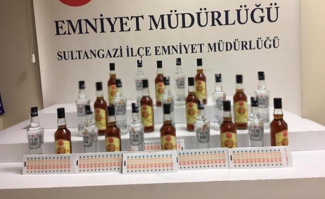 Sultangazi'de sahte içki imalathanesine operasyon düzenlendi