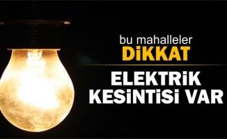 Çatalca elektrik kesintisi (7 Ekim 2018)
