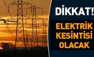 İstanbul'da 4 gün elektrik kesintisi yapılacak yerler