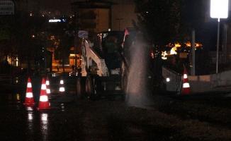 Sancaktepe'deki yol çalışmasında NATO petrol hattı delindi