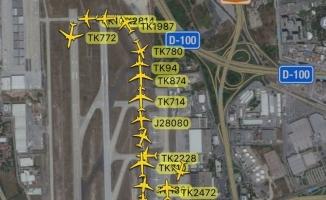 Lodos Atatürk Havalimanı trafiğini de vurdu
