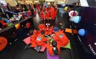Minik astronotlar Beylikdüzü Migros AVM'de buluşuyor