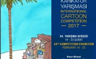 34. Aydın Doğan Uluslararası Karikatür  Yarışması Sergisi Basın Müzesi'nde