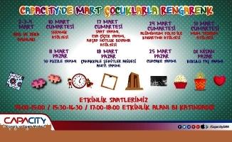 Capacity Alışveriş ve Yaşam Merkezi Mart ayı çocuk etkinlikleri