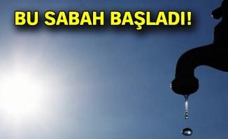 İstanbul'da su kesintisi 30 saat sürecek