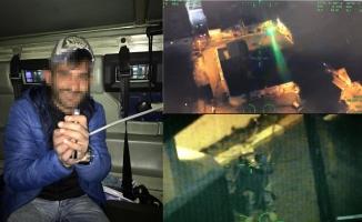 Polis helikopterine lazer tutan zanlı yakalandı