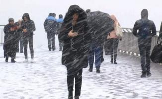 İstanbul için kar ve sağanak yağış uyarısı