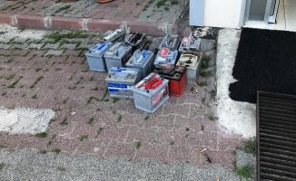 Gaziosmappaşa'da akü hırsızları böyle yakalandı