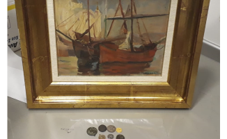 Şişli'de tarihi tablo operasyonu