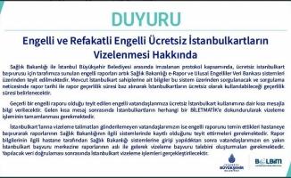 """Engelli"" ve ""Refakatli Engelli"" İstanbulkart"