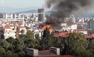 Üsküdar'da korkutan yangın patlama sesleri duyuldu