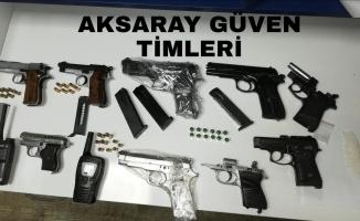 Aksaray'da silahlı uyuşturucu çetesi çökertildi