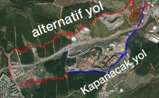 Maltepe'de Başıbüyük-Samandıra yol çalışması
