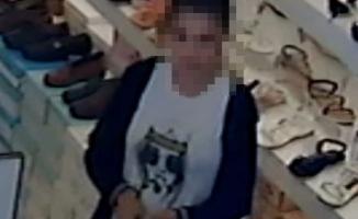 Pendik'te iş yeri hırsızı kadın kameraya yakalandı