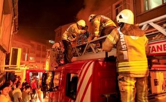 Kağıthane'de işyeri yangını