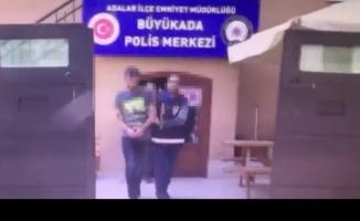 Kınalıada'da silahı magandalar yakalandı