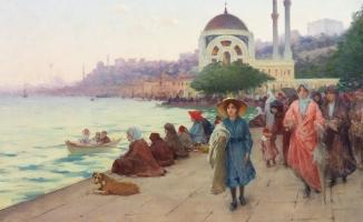 Saray ressamı Fausto Zonara'nın fırçasından İstanbul resimleri