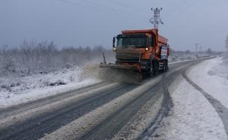 Çatalca ve Silivri'de kar yağışı başladı