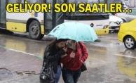 bİstanbul için yağmur uyarısı/b