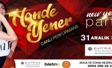 Hande Yener 2018 yılbaşı gecesi   'Pullman İstanbul Airport Hotel'de sahne alacak.
