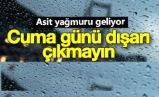 Meteorolojiden şaşırtan asit yağmuru açıklaması