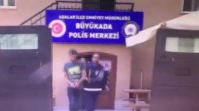 Kınalıada#039;da silahlı magandalar yakalandı