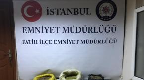 Fatih'te otopark ve depoya uyuşturucu baskını