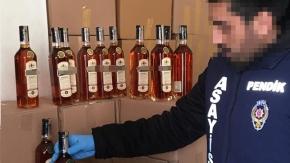 Pendik'te sahte içki imalathanesi